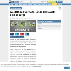 La COO de Evernote, Linda Kozlowski, deja el cargo
