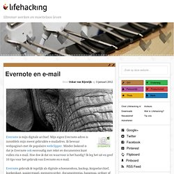 Evernote en e-mail