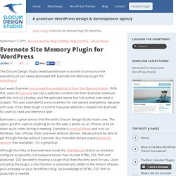 Evernote Site Memory Plugin for Wordpress | Slocum Design Studio