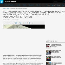 Hands on with the Evernote Smart Notebook by Moleskine
