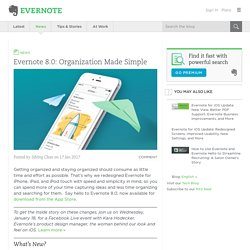 Evernote 8.0: Organization Made Simple