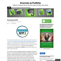Evernote as Portfolio | The story of using Evernote as a portfolio in my k-12 school