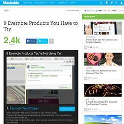 9 Evernote Products You Have to Try