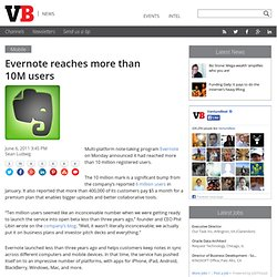 Evernote reaches more than 10M users