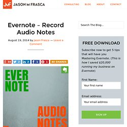 Evernote – Record Audio Notes