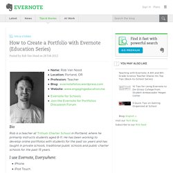How to Create a Portfolio with Evernote (Education Series) « Evernote Blogcast