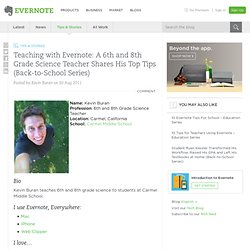 Teaching with Evernote: A 6th and 8th Grade Science Teacher Shares His Top Tips (Back-to-School Series)