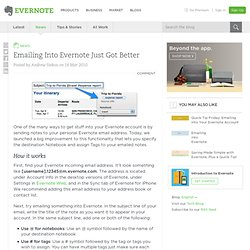 Emailing Into Evernote Just Got Better