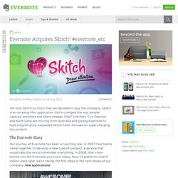 Acquires Skitch! #evernote_etc