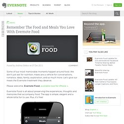 Remember The Food and Meals You Love With Evernote Food