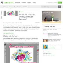 Skitch for Mac Gets Sharing Through Evernote!