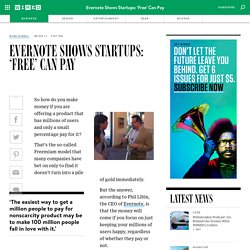 Evernote Shows Startups: 'Free' Can Pay