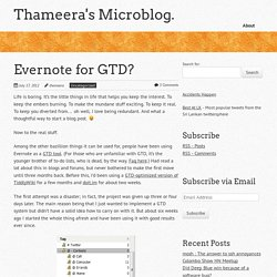 Evernote for GTD? « Thameera's MicroBlog