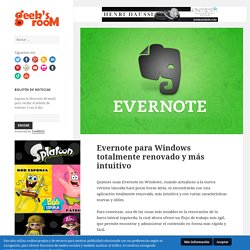 Evernote para Windows totalmente renovado y más intuitivo