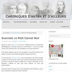 Evernote vs Petit Carnet Noir