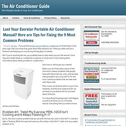 everstar portable air conditioner manual pdf