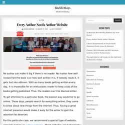 Every Author Needs Author Website