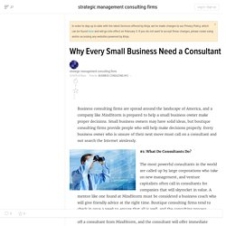 Why Every Small Business Need a Consultant