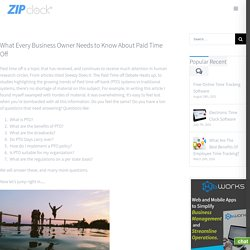 What Every Business Owner Needs to Know About Paid Time Off - Zip Clock