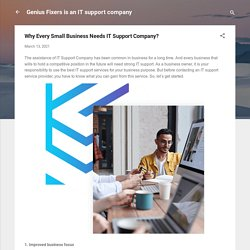 Why Every Small Business Needs IT Support Company?