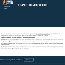 A Game for Every Lesson - Legends of Learning