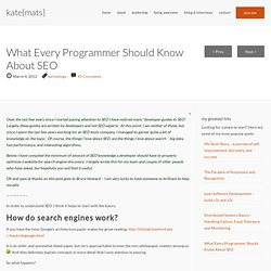 What Every Programmer Should Know About SEO