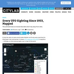 Every UFO Sighting Since 1933, Mapped