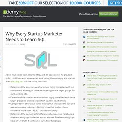 Why Every Startup Marketer Needs to Learn SQL