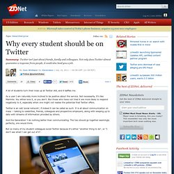 Why every student should be on Twitter