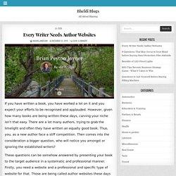 Every Writer Needs Author Websites