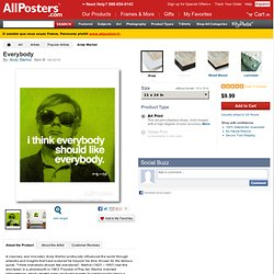 Everybody Prints by Andy Warhol at AllPosters