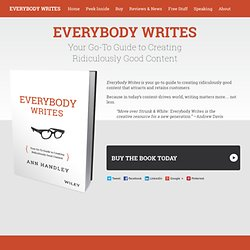 Your Go-To Guide to Creating Ridiculously Good Content