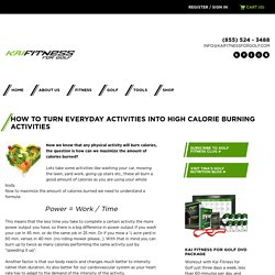 How to Turn Everyday Activities into High Calorie Burning Activities - Kai Fitness For Golf