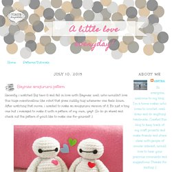 A little love everyday!: Baymax amigurumi pattern