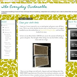 The Everyday Cinderella: Clean your stove vents