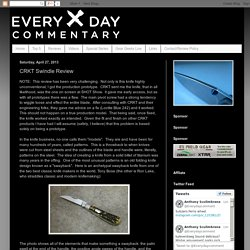 Everyday Commentary: CRKT Swindle Review