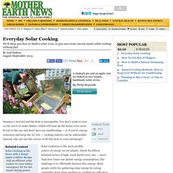 Everyday Solar Cooking - Renewable Energy