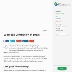 Everyday Corruption in Brazil