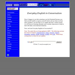 Everyday English in Conversation