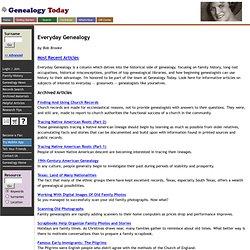 Everyday Genealogy, A Family History Column at Genealogy Today