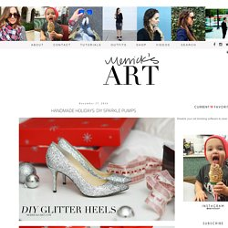 Merrick's Art // Style + Sewing for the Everyday Girl: HANDMADE HOLIDAYS: DIY SPARKLE PUMPS