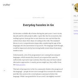 Everyday hassles in Go