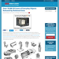 Over 10,000 3D Scans of Everyday Objects Released by Redwood Data