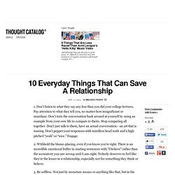 10 Everyday Things That Can Save A Relationship