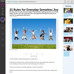 Rules for Everyday Senseless Joy - OWN TV