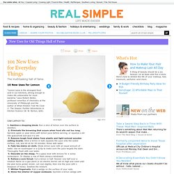 101 New Uses for Everyday Things | Real Simple