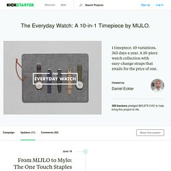The Everyday Watch: A 10-in-1 Timepiece by MIJLO. by Daniel Eckler