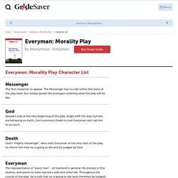 Everyman: Morality Play Characters