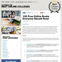 100 Free Online Books Everyone Should Read