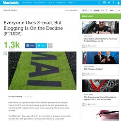 Everyone Uses E-mail, But Blogging Is On the Decline [STUDY]